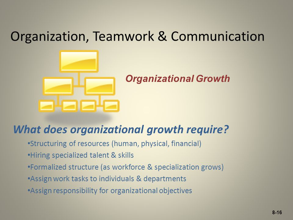 Organization, Teamwork & Communication