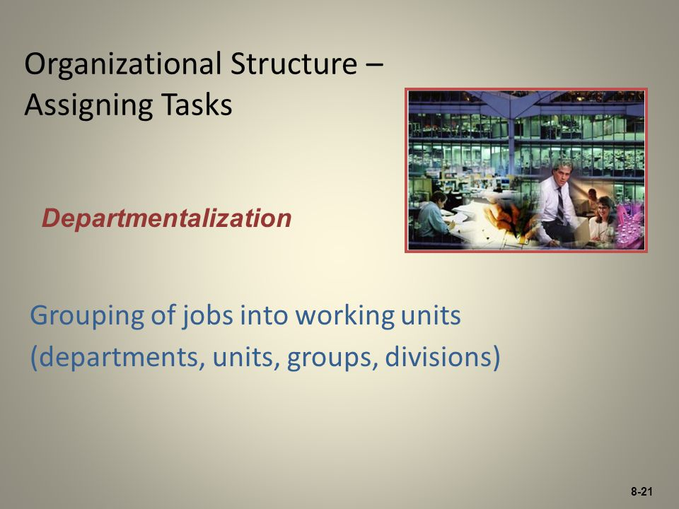 Organizational Structure – Assigning Tasks