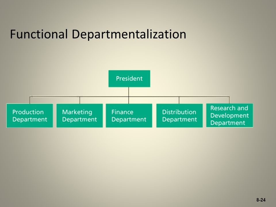 Functional Departmentalization