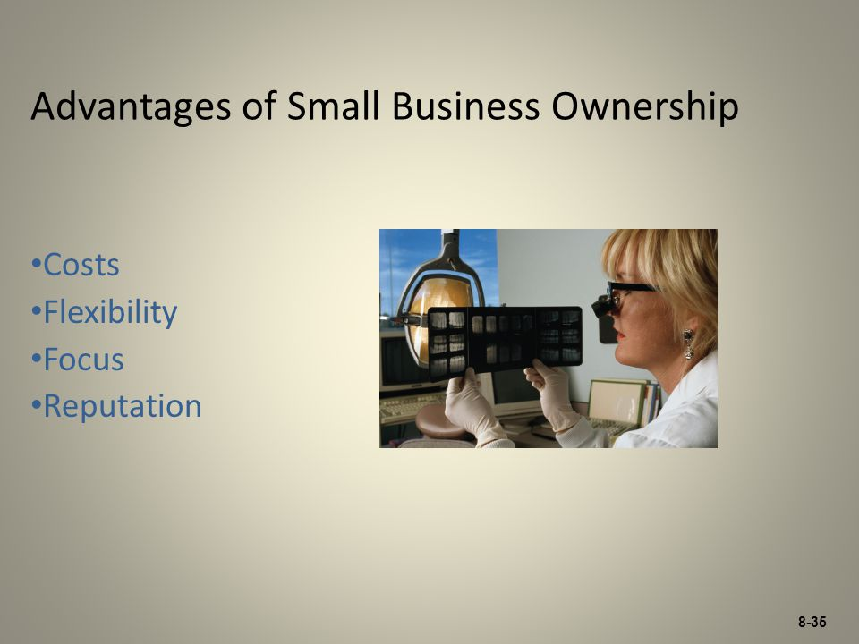 Advantages of Small Business Ownership