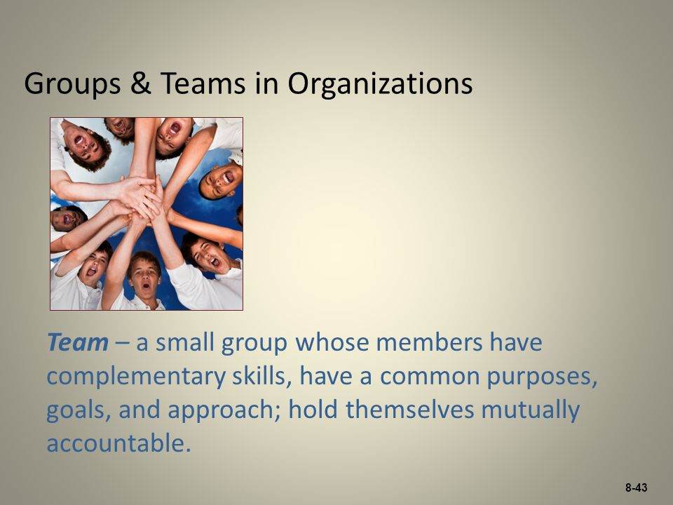 Groups & Teams in Organizations