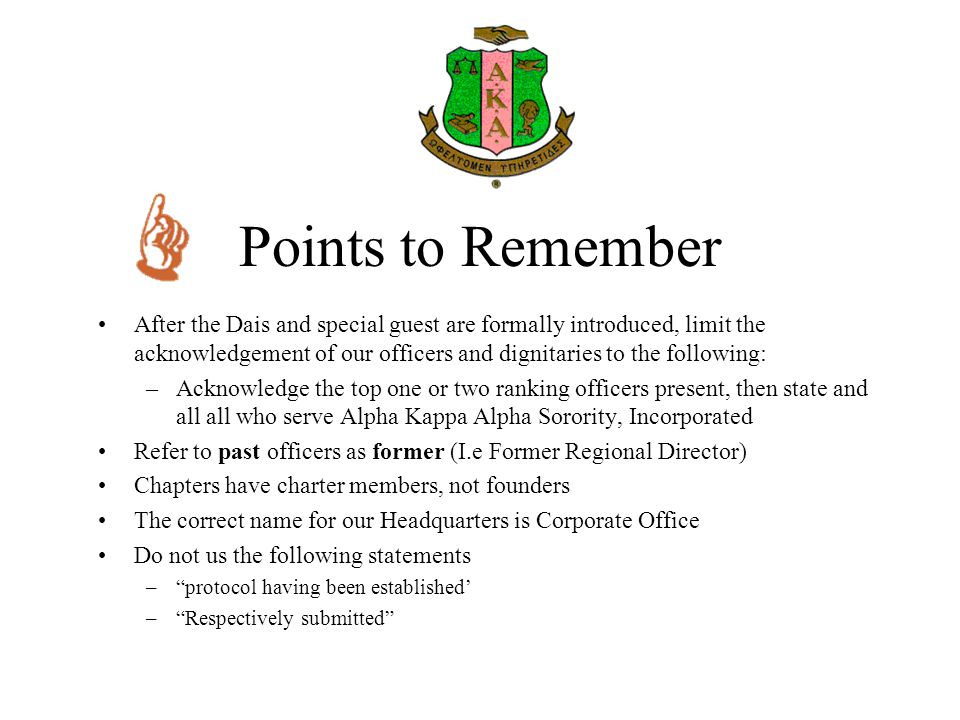 Points to Remember