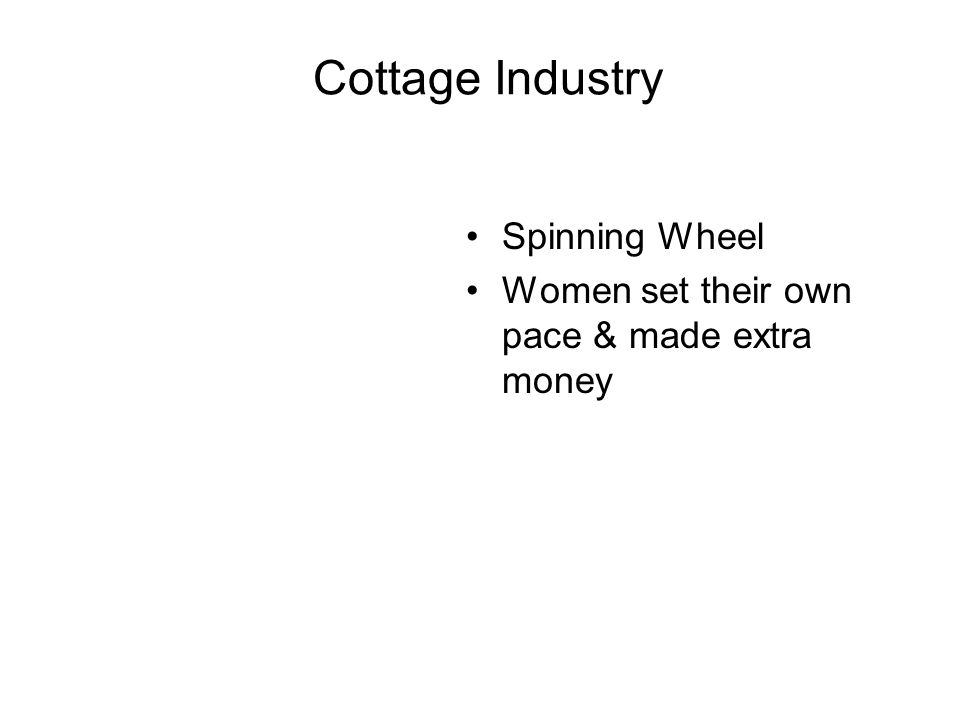 Cottage Industry Spinning Wheel