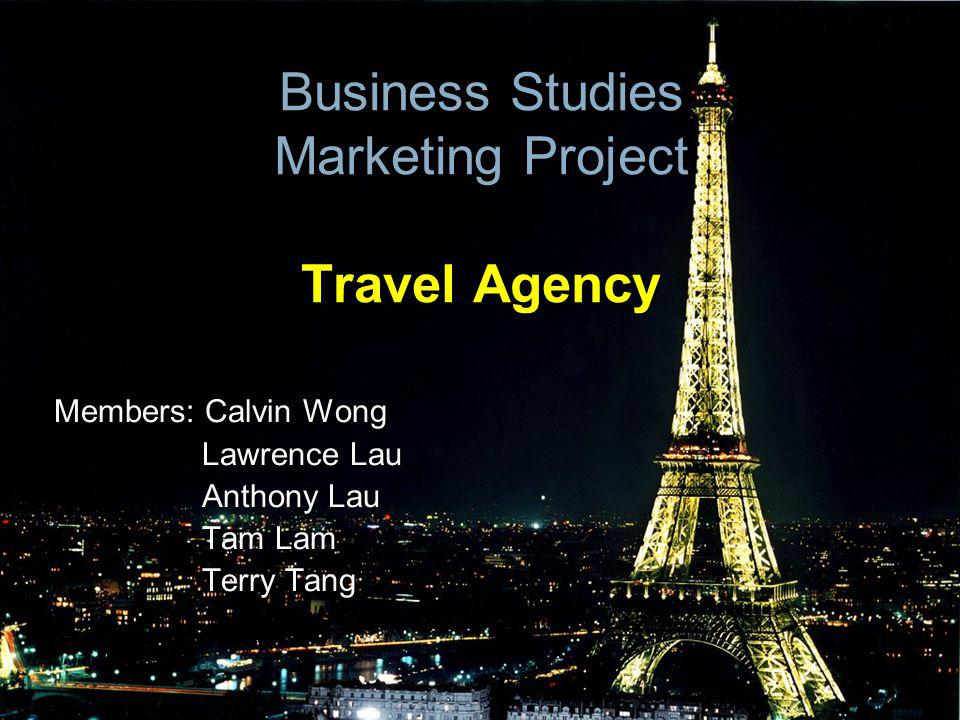 Business Studies Marketing Project Travel Agency