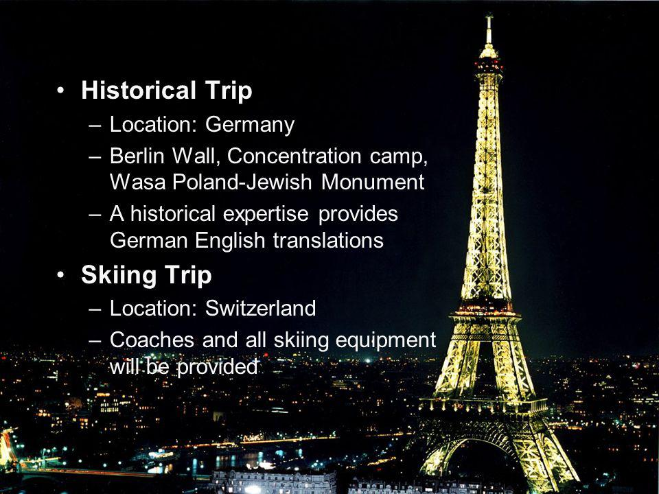 Historical Trip Skiing Trip Location: Germany