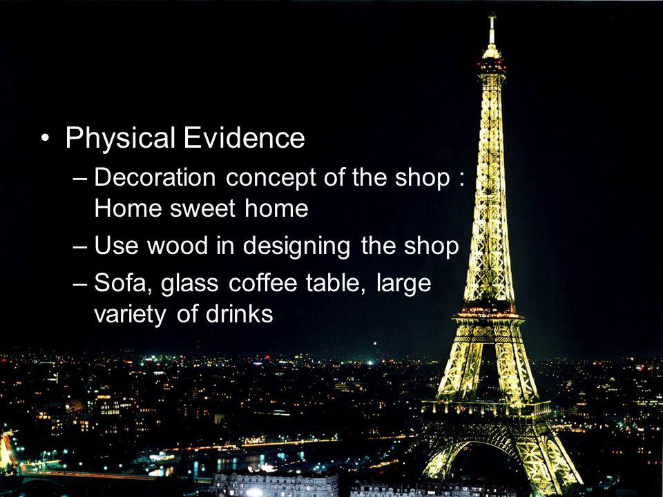 Physical Evidence Decoration concept of the shop : Home sweet home