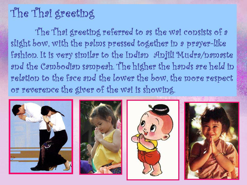 Thailand culture ppt video online download the thai greeting m4hsunfo