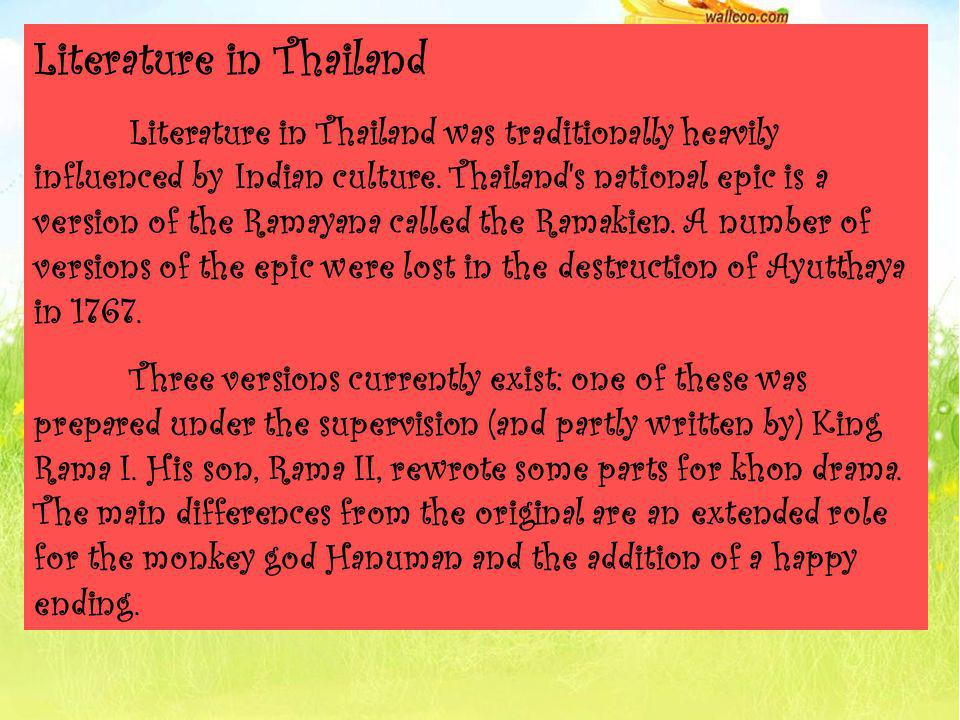 Learn These Thai Literature Ppt {Swypeout}