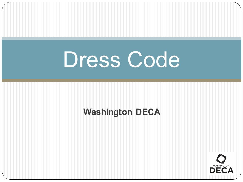 Dress Code Washington DECA