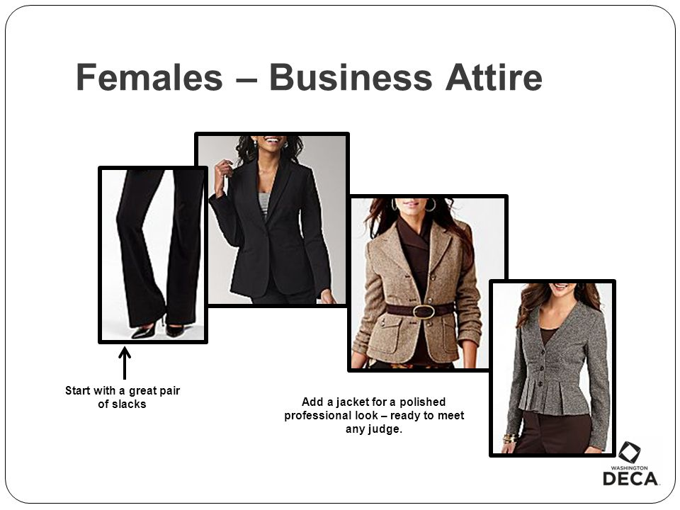 Females – Business Attire