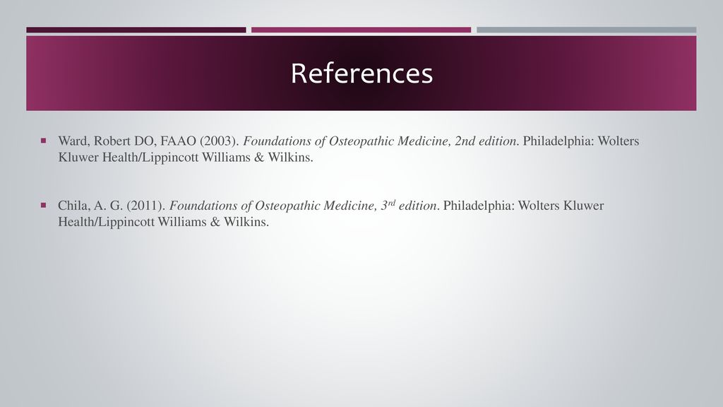 Foundations of osteopathic medicine abebooks.
