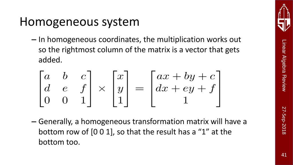 Linear Algebra Primer Juan Carlos Niebles and Ranjay Krishna