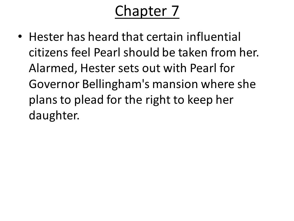 Scarlet Letter Chapter Summaries ppt video online