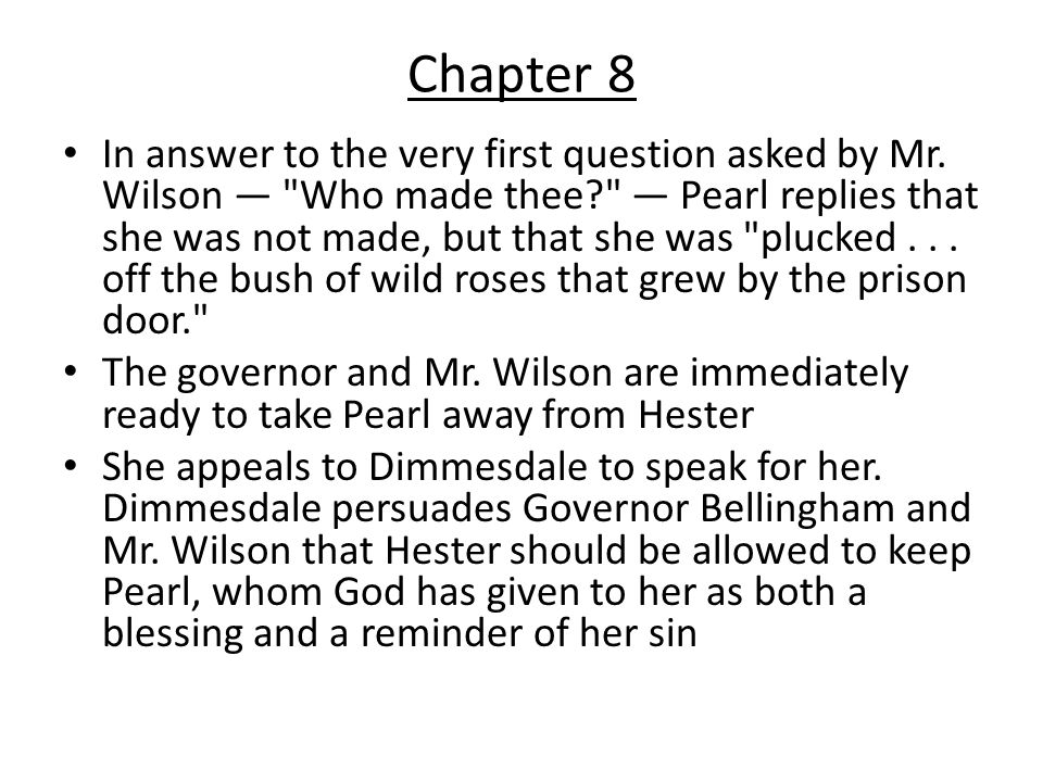 scarlet letter chapter 4 summary scarlet letter chapter summaries ppt 24737 | Chapter 8