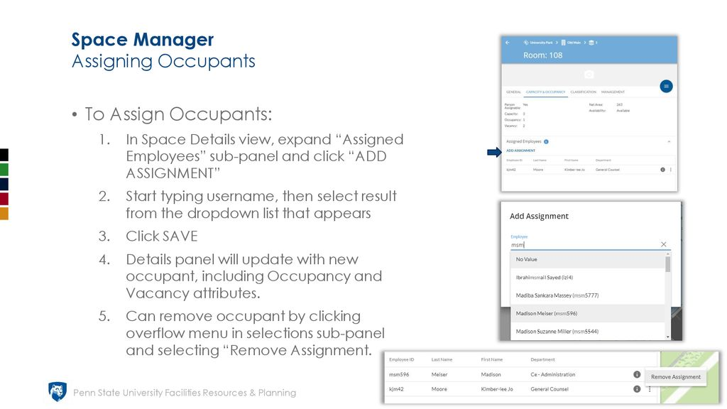 Space Manager Search and Filter View - ppt download