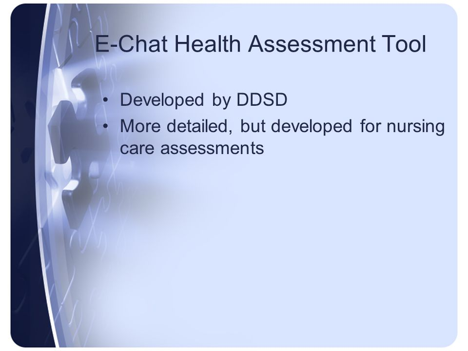 E-Chat Health Assessment Tool