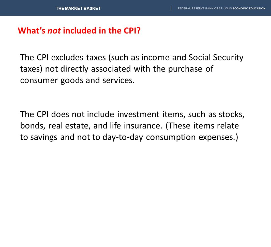 What's not included in the CPI