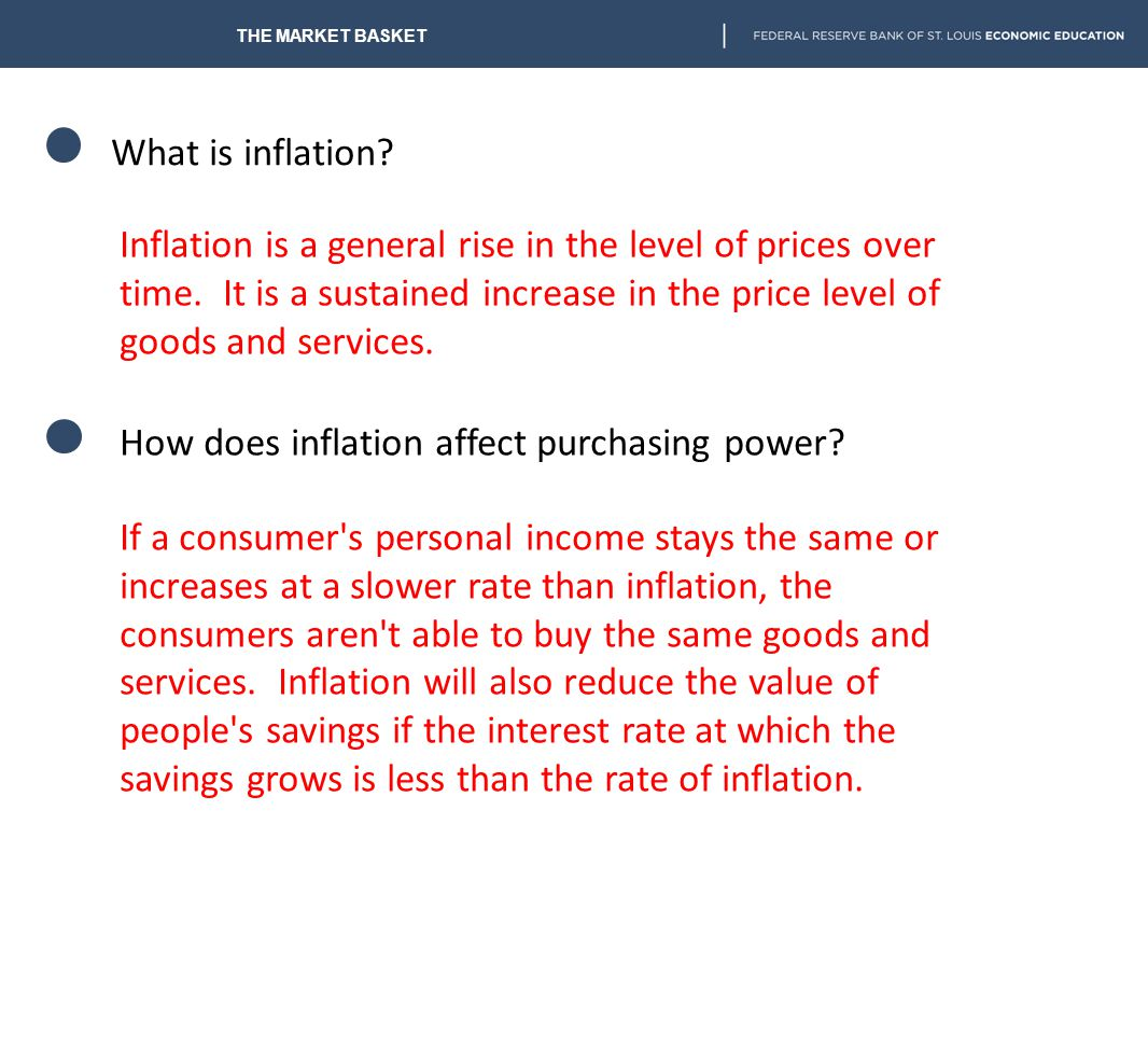 How does inflation affect purchasing power