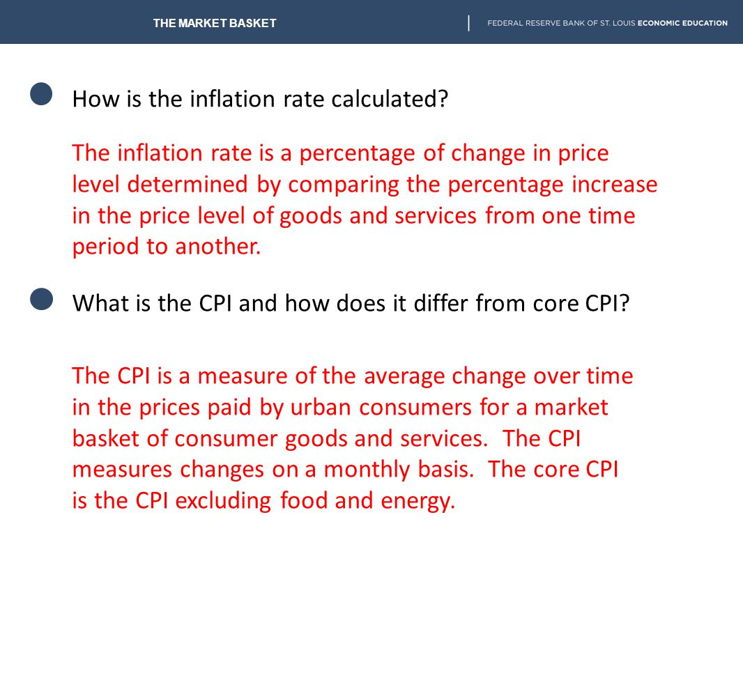 How is the inflation rate calculated