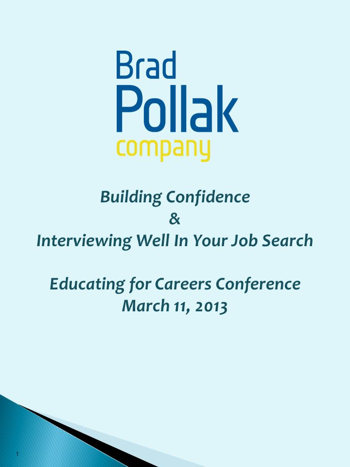 Interviewing Well In Your Job Search Educating for Careers Conference