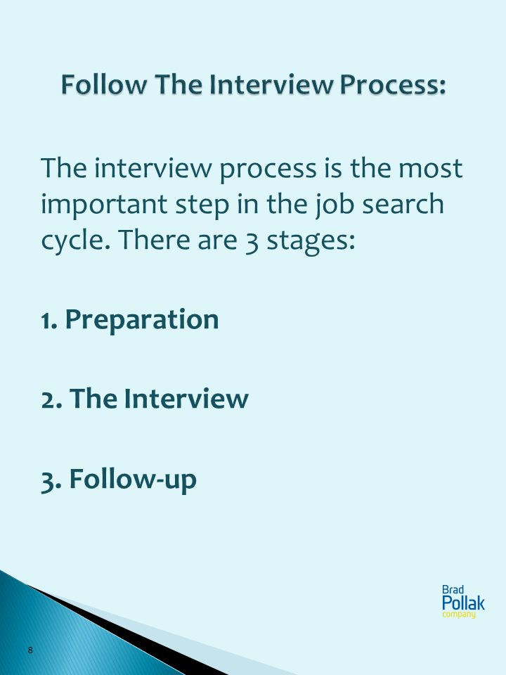 Follow The Interview Process:
