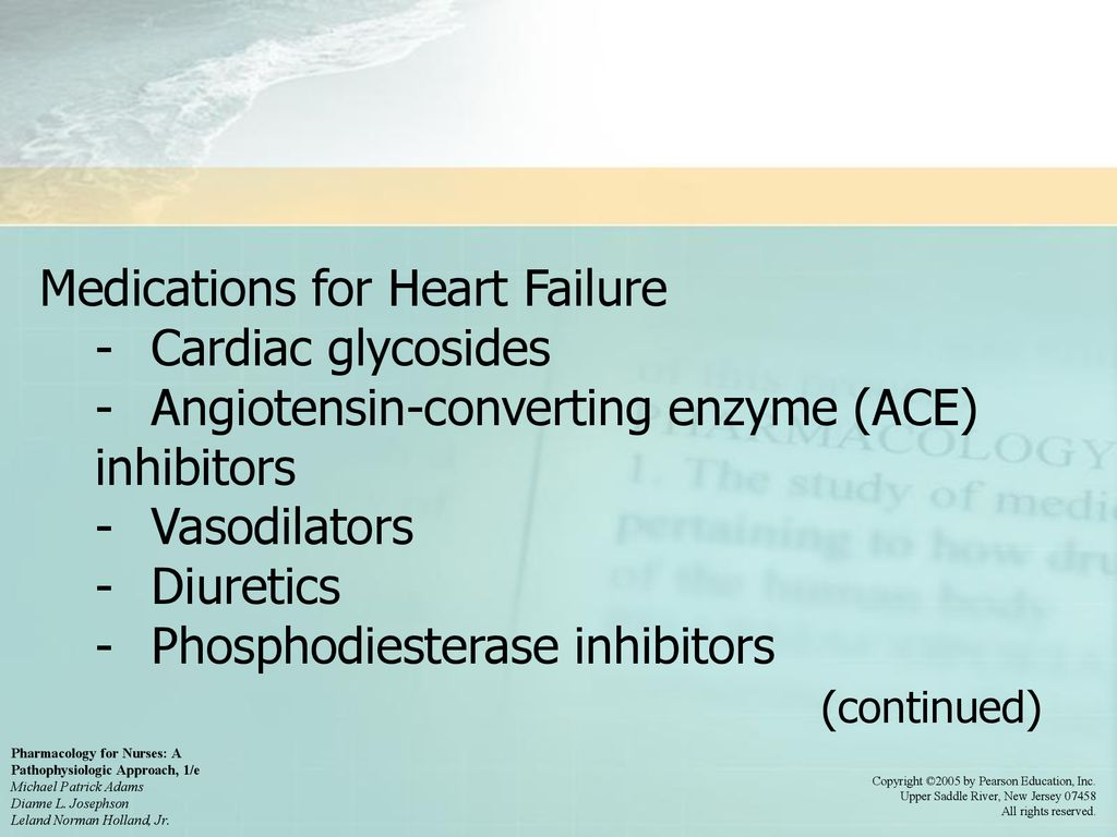 Chapter 22: Drugs for Heart Failure - ppt download