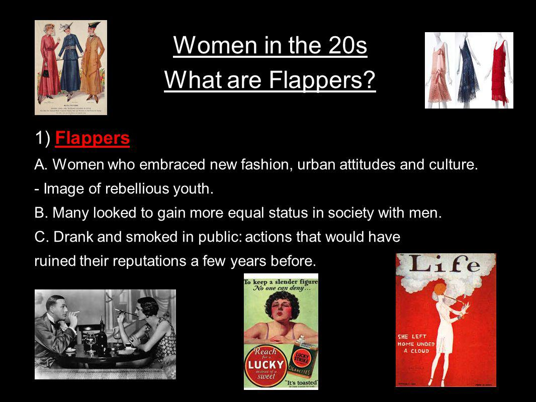 Women in the 20s What are Flappers
