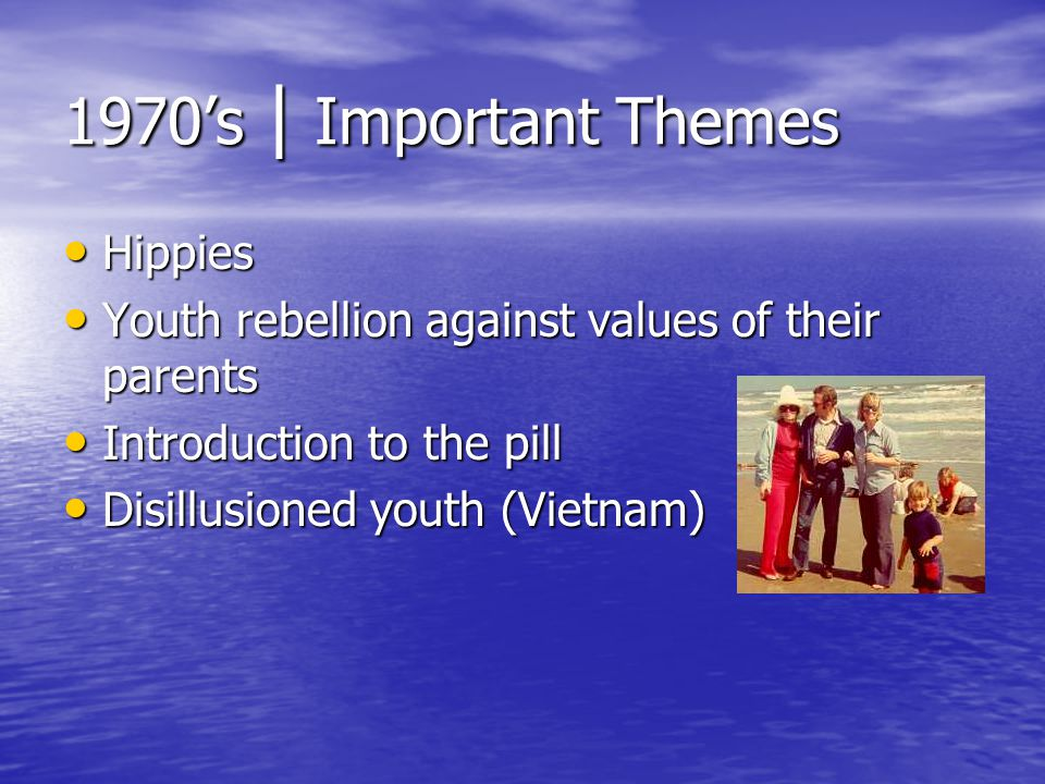 1970's | Important Themes Hippies