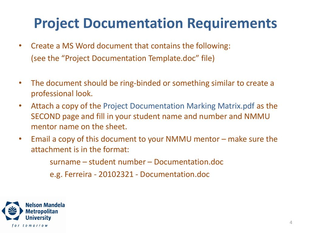 The Project Demonstration and Documentation - ppt download