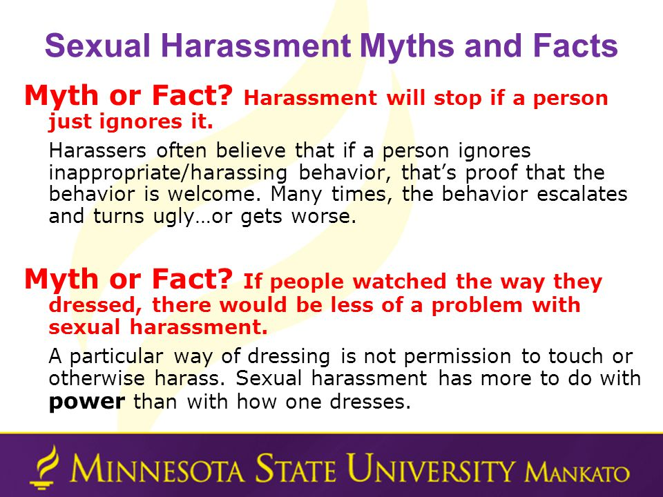 What time? Minnesota policies on sexual harassment