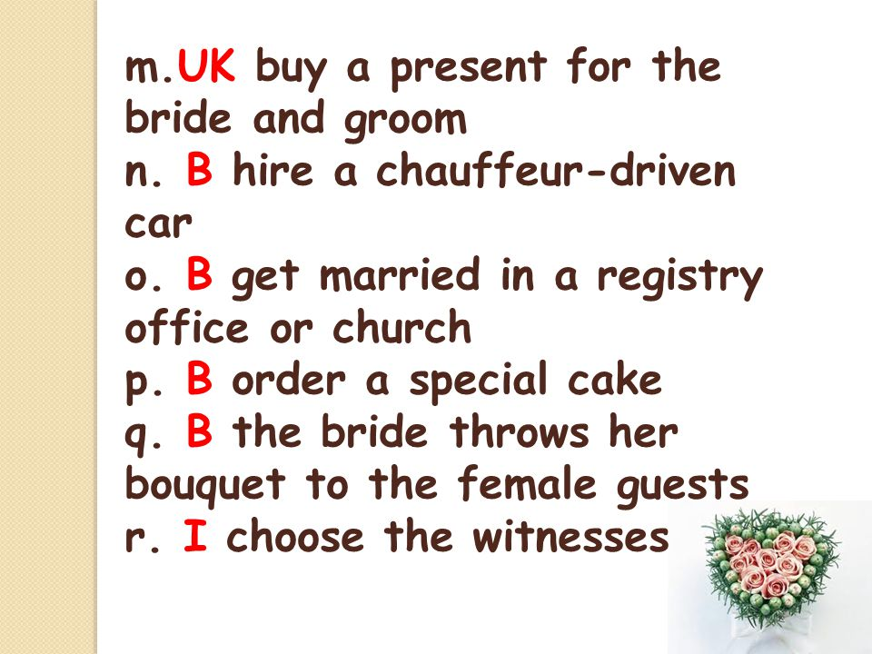 m.UK buy a present for the bride and groom