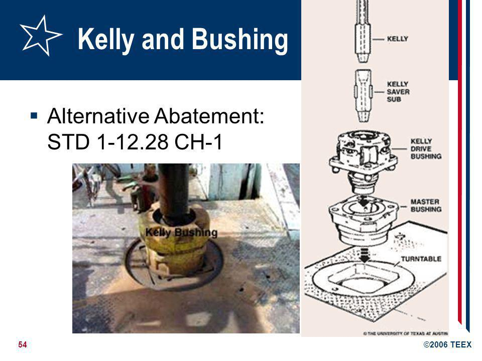 Kelly and Bushing Alternative Abatement: STD 1-12.28 CH-1