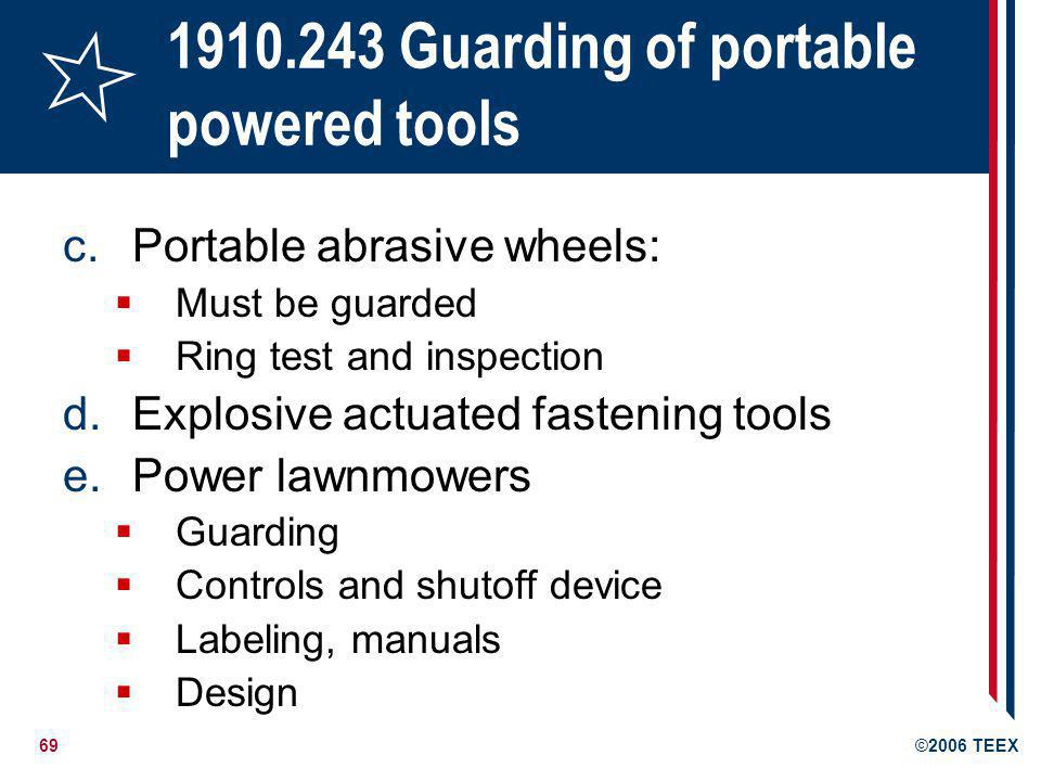 1910.243 Guarding of portable powered tools