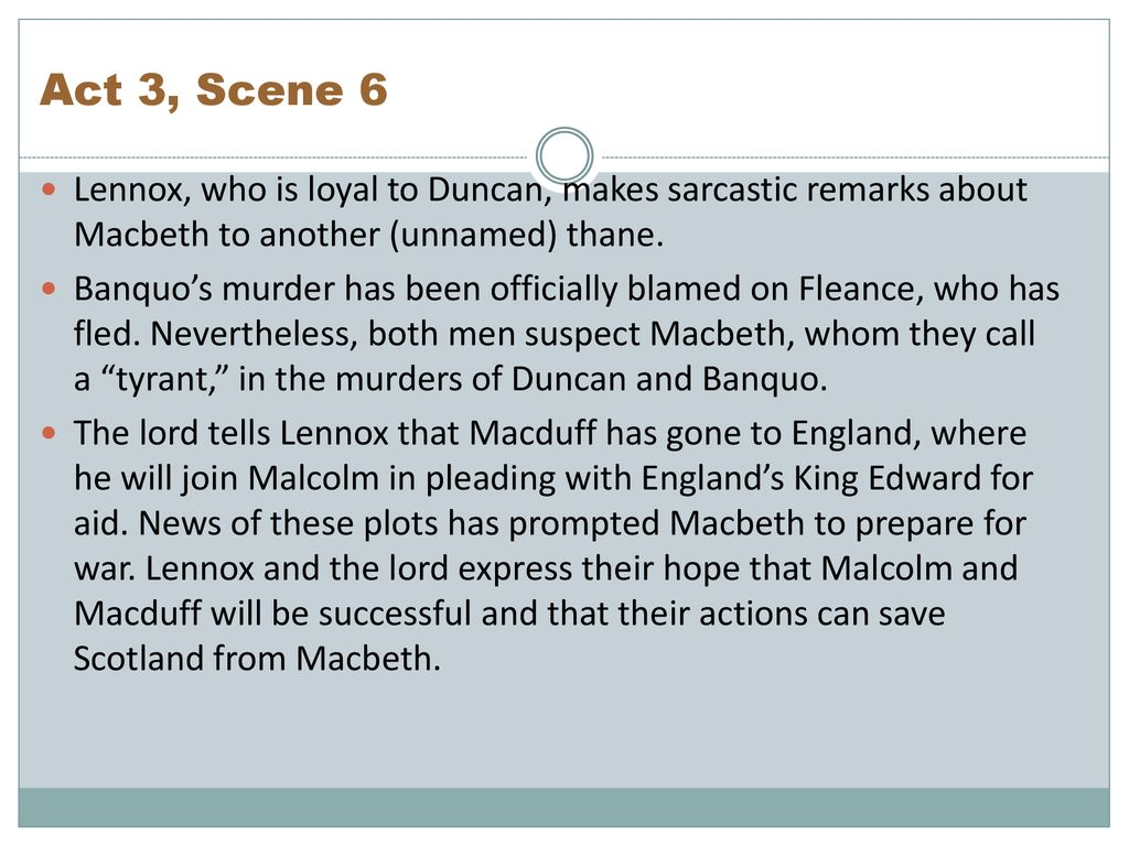 Macbeth Act By Summary Ppt Download 3 Scene 6 Quote Analysis