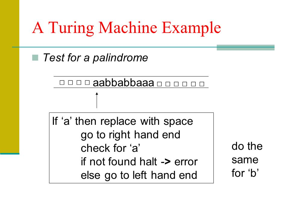 A Turing Machine Example