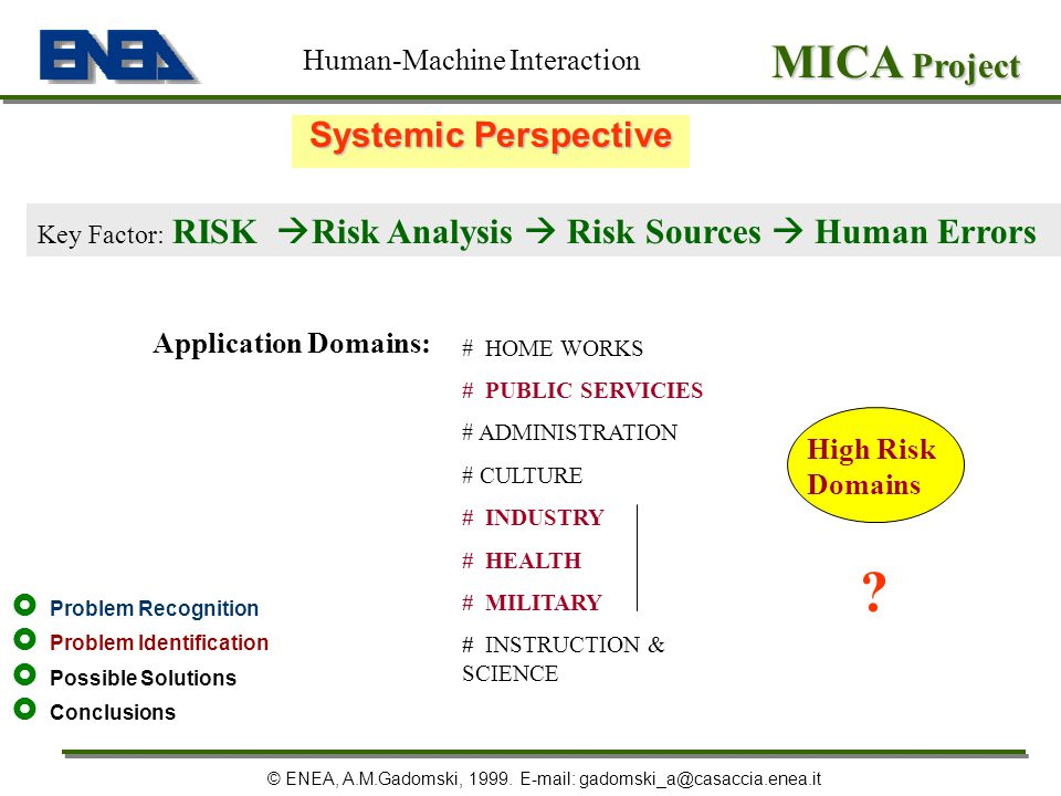 MICA Project Systemic Perspective Human-Machine Interaction