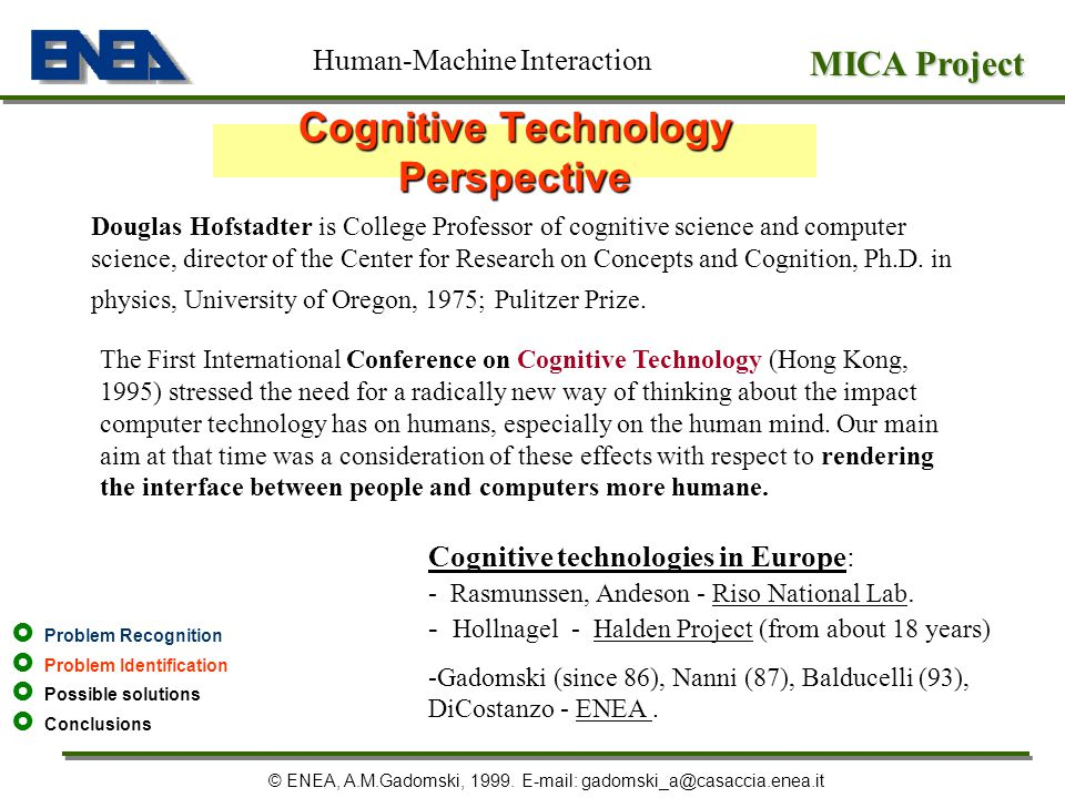Cognitive Technology Perspective