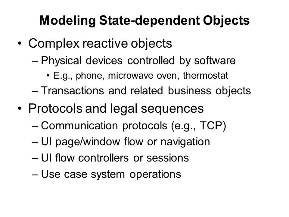 Modeling State-dependent Objects