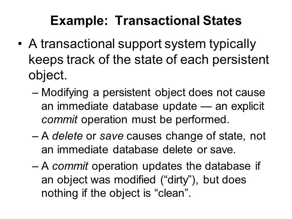 Example: Transactional States