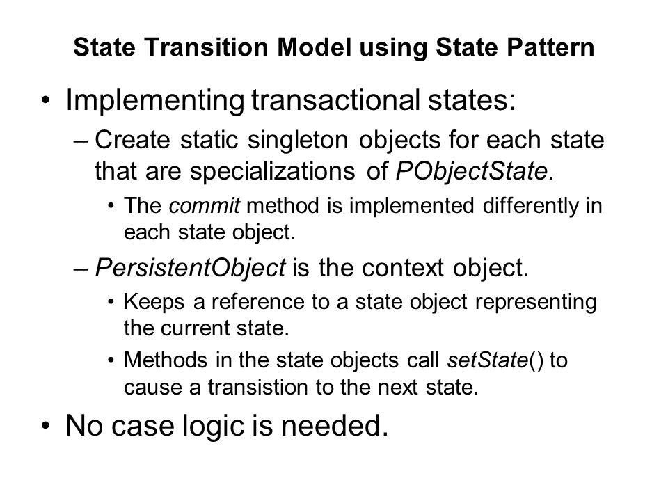 State Transition Model using State Pattern