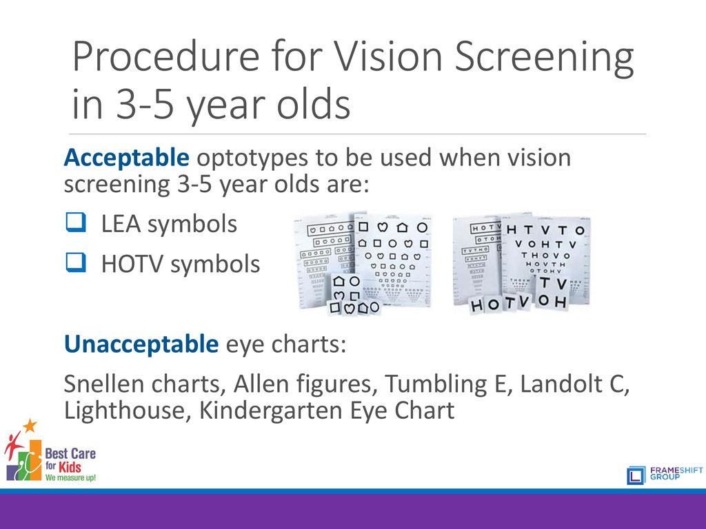 Procedure For Vision Screening In 3 5 Year Olds