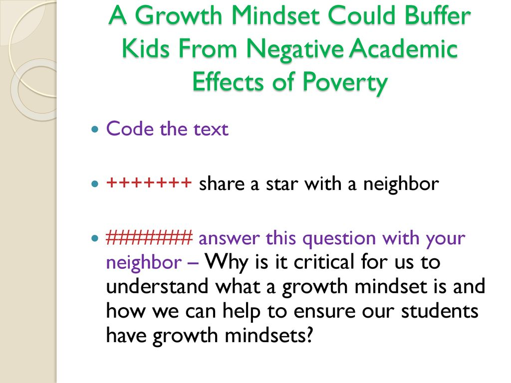 A Growth Mindset Could Buffer Kids From >> South Lewis Faculty Meetings Ppt Download
