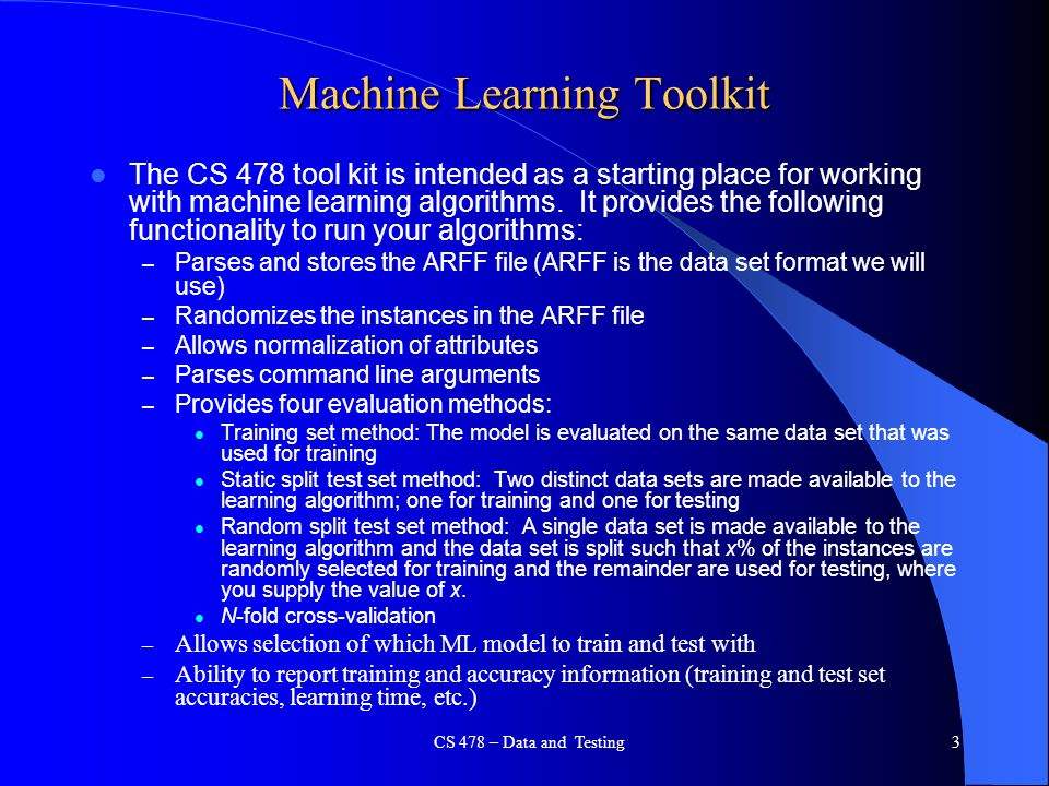 Machine Learning Toolkit