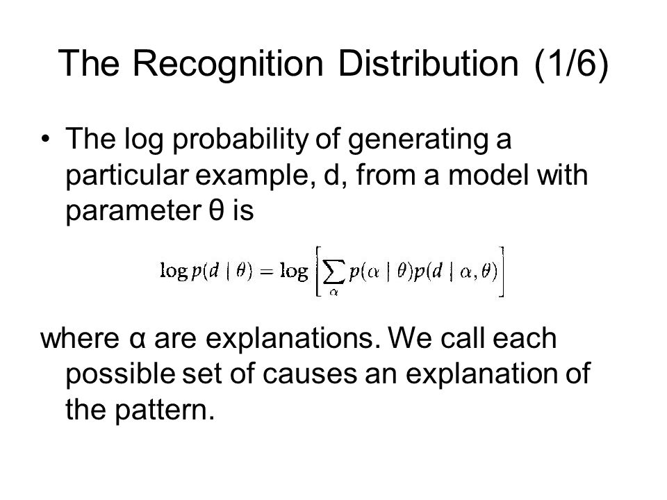 The Recognition Distribution (1/6)