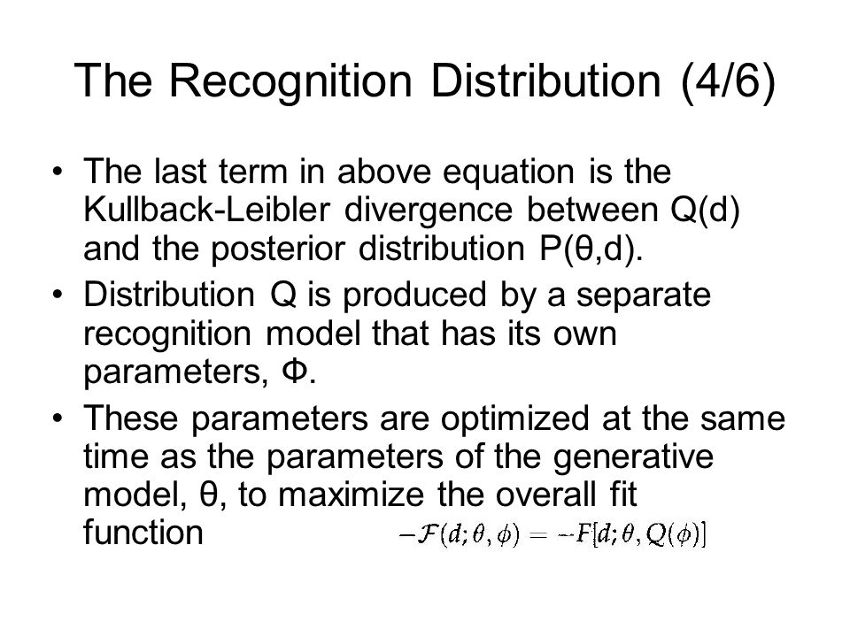 The Recognition Distribution (4/6)