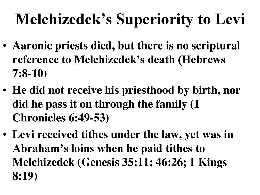 The Melchizedek Priesthood Is Superior - ppt download