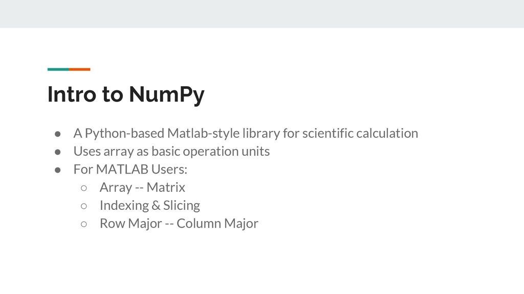 Python-NumPy Tutorial - ppt download