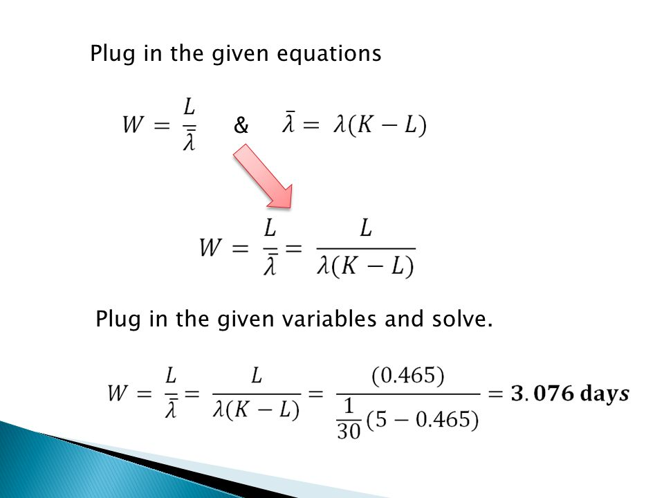 Plug in the given equations