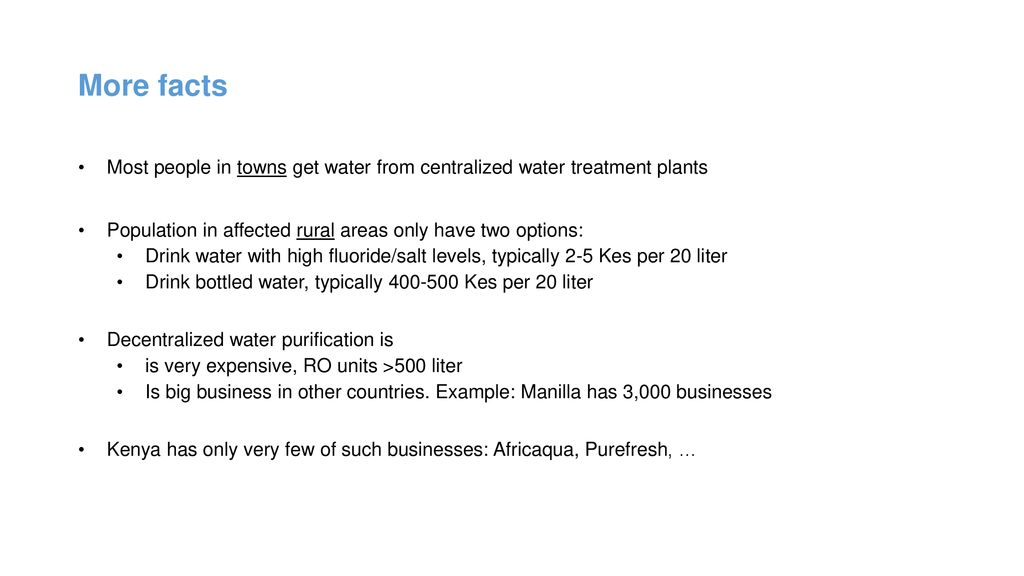 Maji Milele Purified Water ATMs, Business Model - ppt download
