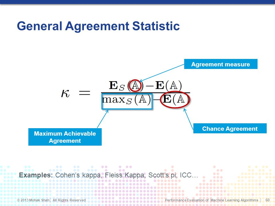 General Agreement Statistic